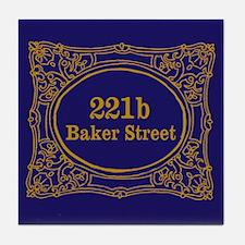 221b Baker St Tile Coaster