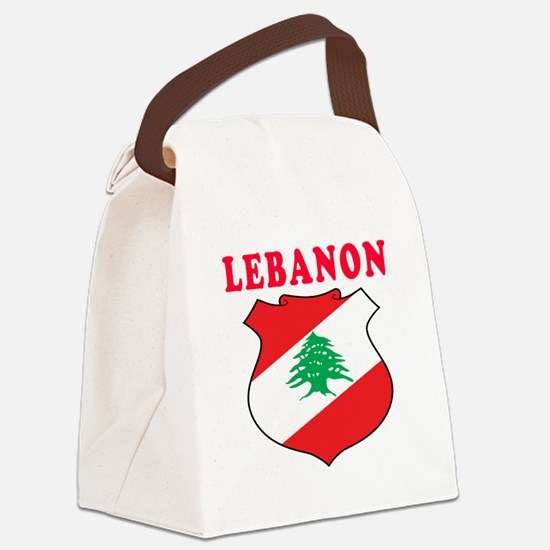 Lebanon Coat Of Arms Designs Canvas Lunch Bag