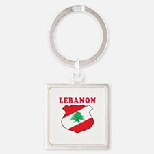 Lebanon Coat Of Arms Designs Square Keychain