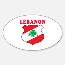 Lebanon Coat Of Arms Designs Sticker (Oval)