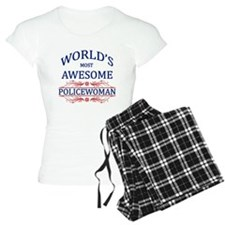 World's Most Awesome Policewoman pajamas