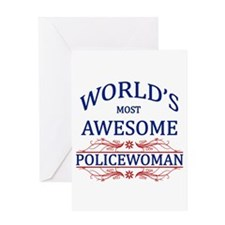 World's Most Awesome Policewoman Greeting Card