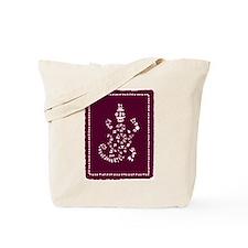 African Tribal Turtle Purple Tote Bag