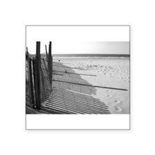 "Beach Shadows Square Sticker 3"" x 3"""