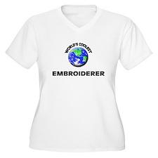 World's Coolest Embroiderer Plus Size T-Shirt