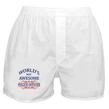 World's Most Awesome Police Officer Boxer Shorts