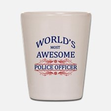 World's Most Awesome Police Officer Shot Glass