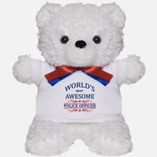 World's Most Awesome Police Officer Teddy Bear