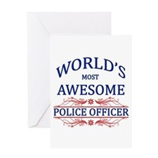 World's Most Awesome Police Officer Greeting Card