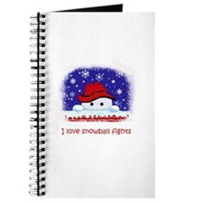 I love snowball fights Journal