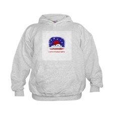 I love snowball fights Hoodie