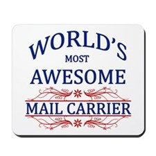 World's Most Awesome Mail Carrier Mousepad