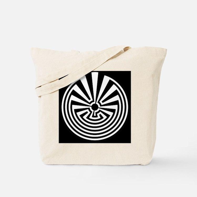 Radial Labyrinth Tote Bag