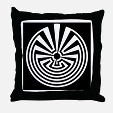 Radial Labyrinth Throw Pillow