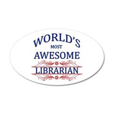 World's Most Awesome Librarian Wall Decal