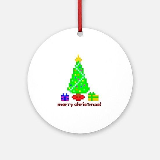 bit christmas ornament (round)