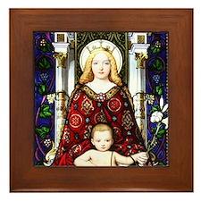 Madonna & Child Framed Tile