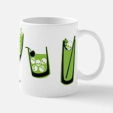 Poison Green Skull Cocktails Mug