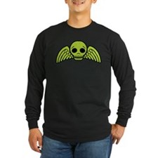 Green Skull With Wings T