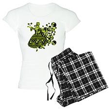 Green Skull Dancer Pajamas