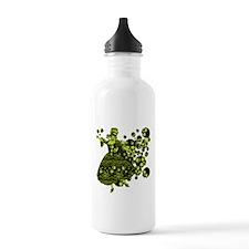 Green Skull Dancer Water Bottle