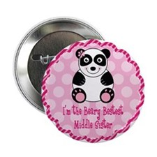 "Panda Middle Sister 2.25"" Button"