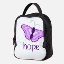 Hope Floats in Purple Neoprene Lunch Bag