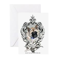 Akita Family Crest Greeting Card