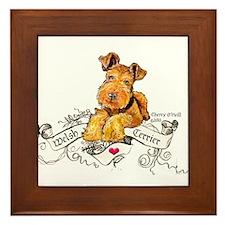Welsh Terrier World Framed Tile