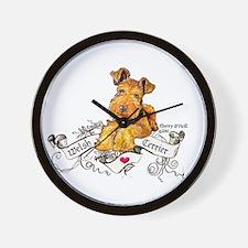Welsh Terrier World Wall Clock