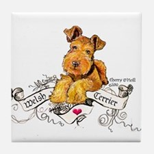 Welsh Terrier World Tile Coaster