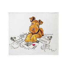 Welsh Terrier World Throw Blanket