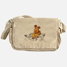 Welsh Terrier World Messenger Bag