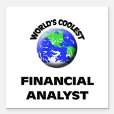 World's Coolest Financial Analyst Square Car Magne