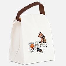 Welsh Terrier Halloween Canvas Lunch Bag