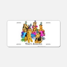 Welsh Terrier Party Aluminum License Plate
