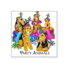 """Welsh Terrier Party Square Sticker 3"""" x 3"""""""