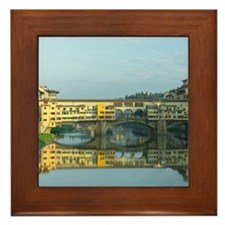 Ponte Vecchio Bridge Framed Tile