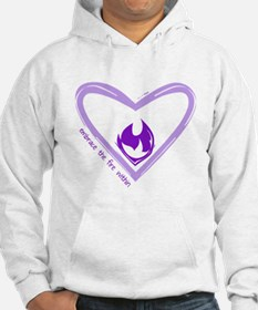 Embrace The Fire Within - Purple Hoodie