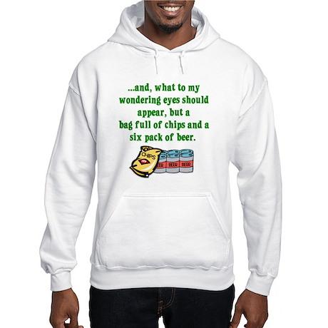 Christmas Poem for Men Hooded Sweatshirt