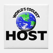 World's Coolest Host Tile Coaster