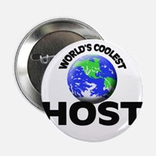 "World's Coolest Host 2.25"" Button"