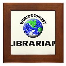 World's Coolest Librarian Framed Tile