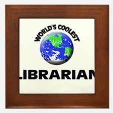 World's Coolest Librarian Framed Tile
