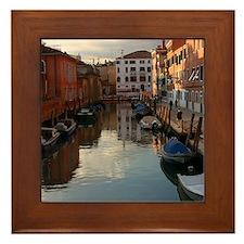 Venice Sunset Framed Tile