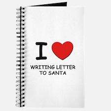 I love writing letter to santa Journal