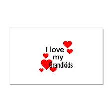 I LOVE MY GRANDKIDS Car Magnet 20 x 12
