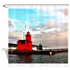 Holland Harbor Lighthouse II Shower Curtain