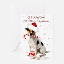 Jack Russell Christmas Greeting Card