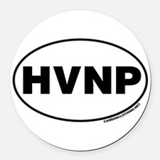 Hawaii Volcanoes National Park, HVNP Round Car Mag